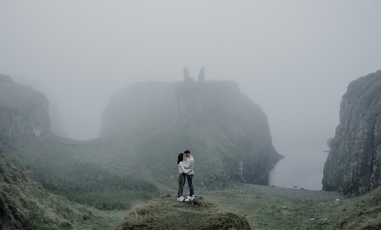dunseverick castle engagement shoot