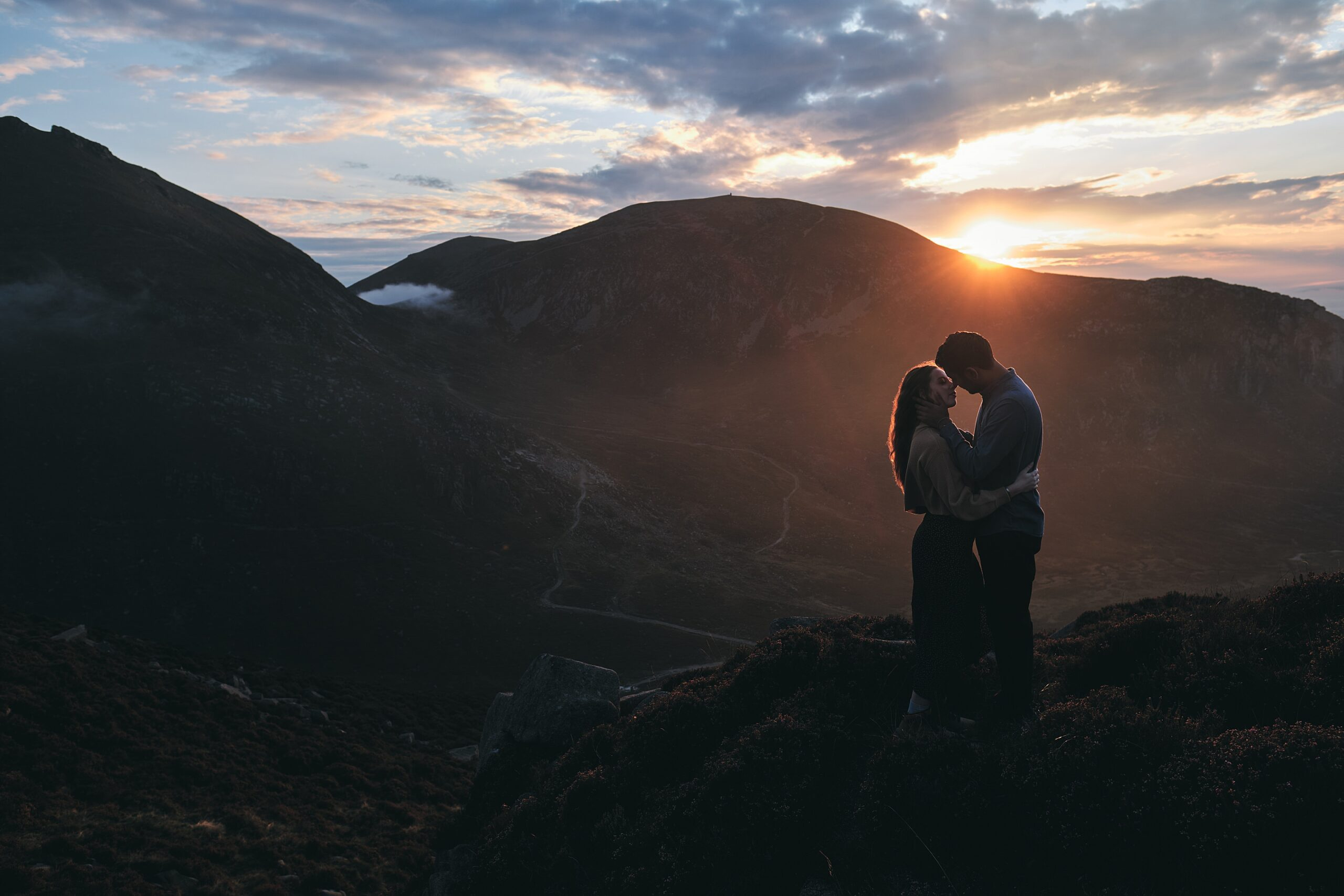 mourne mountains engagement shoot
